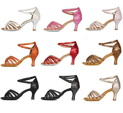 Brand New Women's Ballroom Latin Tango Dance Shoes heeled Salsa 8 Colors 1810
