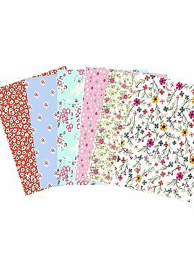 Ditsy Print Flower Floral Wallpaper A4 Sized Edible Wafer Paper / Icing Sheet