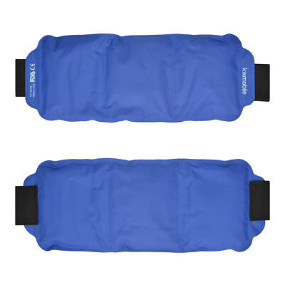 Hot and Cold Gel Compress Wrap - Reusable Ice and Heat Pack Wrap for Back