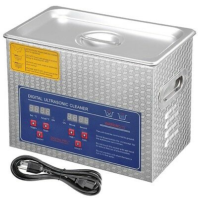Pro Stainless Steel 3L Industry Digital Heated Ultrasonic Cleaner Heater w/Timer
