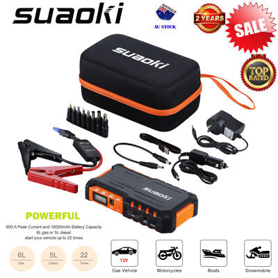Suaoki Power Bank AUTO Car Jump Starter Vehicle Booster Battery Charger 18000mAh