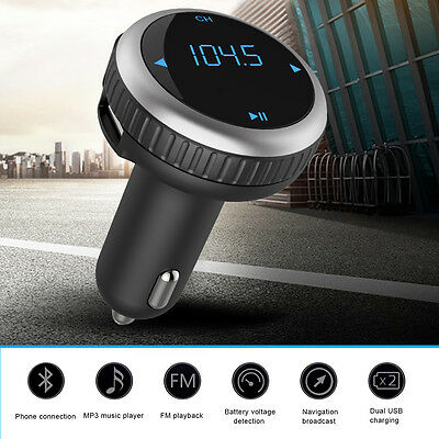 UK Bluetooth FM Transmitter Car Kit MP3 SD TF USB Charger AUX-in Handsfree Call