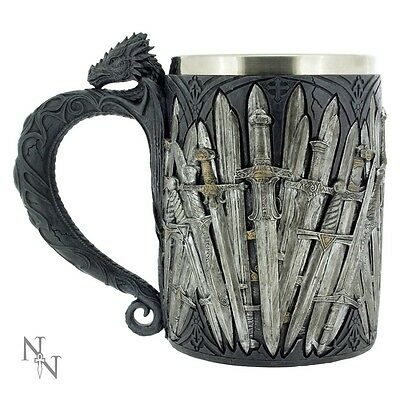 Nemesis Now Sword Dragon Tankard Medieval Mythical Fantasy Ornament Statue 14cm