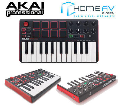 NEW AKAI MPK Mini 2 Compact Studio MIDI 25KEY Keyboard Music USB Controller