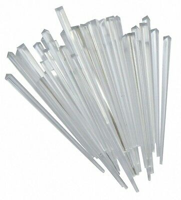 Clear Contemporary Prism Cocktail Sticks Picks Pack Of 10, 25, 50,100, 250, 500