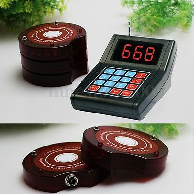 10xRestaurant Coaster Pagers Wireless Guest Waiter Calling Paging Queuing System