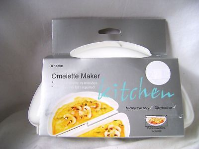 New Microwave Omelette Maker Shaper Quick Easy Healthy 4 Egg Omelettes H&h