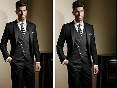 New Arrive Black Men's Wedding Suit Formal Occasion Bridegroom Tuxedos Custom