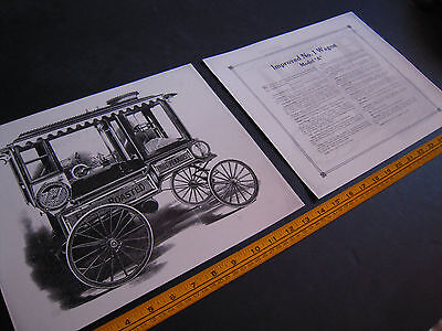 "Antique Cretors Popcorn Wagon 2 Print Set - Improved No. 1 Wagon - Model ""A""-"