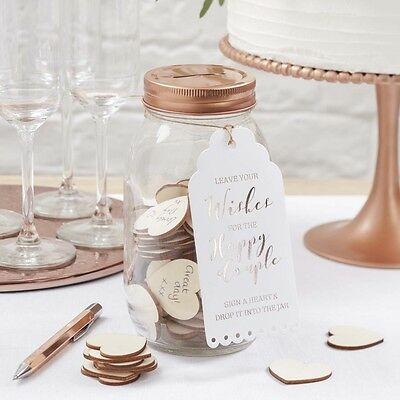 Wishing Jar and Heart Alternative Guest Book, Guest Book, Wedding Guest Book
