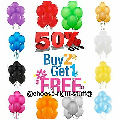 20 Latex PLAIN BALLONS helium BALLOONS Quality Party Wedding Mother's Day