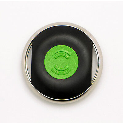 Item Finder, Activity Tracker & Location Sharing Smart Button, Black-Green 1pack