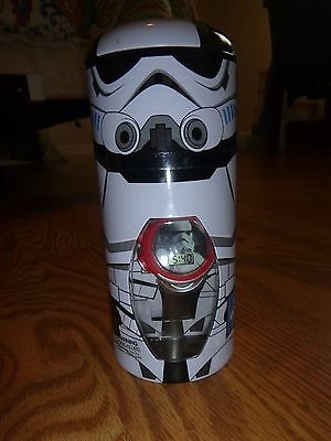 NEW Disney STAR WARS Storm Trooper Digital Watch *Metal Collector Tin