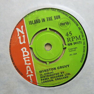 "WINSTON GRUVY GROOVY Island In The Sun / Work It Up UK 7"" Nu Beat NB 041 Ex"