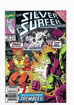 Silver Surfer # 52 Vol 2  The Hero in Abscence ! grade 7.5 scarce book !!
