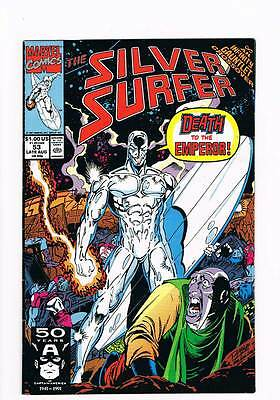 Silver Surfer # 53 Vol 2  The Fool on the Throne ! grade 6.5 scarce book !!