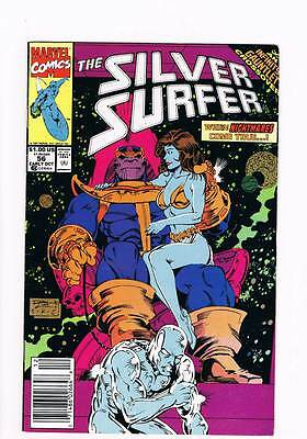 Silver Surfer # 56 Vol 2 Thanos Part 2: Exodus ! grade 7.5 scarce book !!