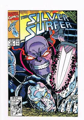 Silver Surfer # 59 Vol 2 Field of Honor ! Infinity Gauntlet grade 8.5 scarce !!