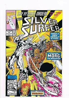 Silver Surfer # 71 Vol 2 Combustion ! grade 9.0 scarce !!