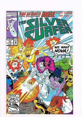 Silver Surfer # 72 Vol 2 Liberation ! grade 9.0 scarce !!