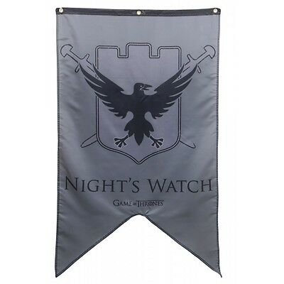 "Authentic GAME OF THRONES Nights Watch Banner Poster Flag 30"" x 50"" NEW"