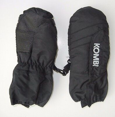 KOMBI Black Warm WINTER MITTENS Ski Snow Gloves Size Kids TODDLER MEDIUM Youth