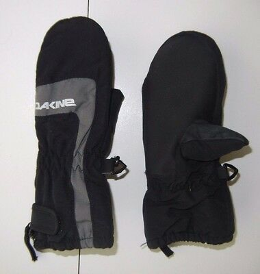 DAKINE Black Warm WINTER MITTENS Ski Snow Gloves Size TODDLER SMALL Youth Kids