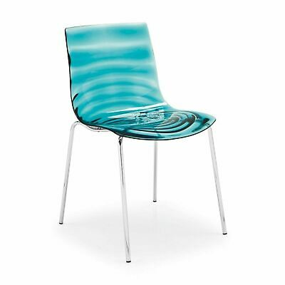 Calligaris Leau Chair Stackable Designer Lounge Chrome Dining Chair