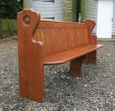 1884 Ombersley Road Methodist Church Pitch Pine Pew | We deliver