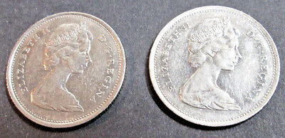 1968~~Canadian 25 Cents~~Silver~~Scarce~~Canada