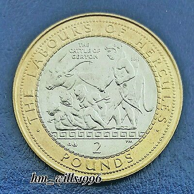 2000 Two Pounds £2 Gibraltar Hercules 'The Cattle Of Geryon' UNC Vary Rare