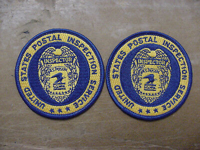 "set of 2 vintage united states postal inspection service patch ""inspector""-2.75"""