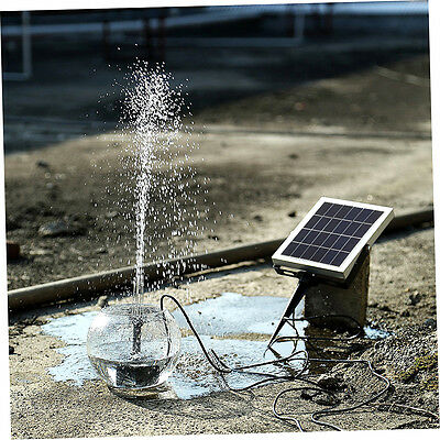 Solar Panel Submersible Water Pump Storage Battery Backup w/Timer for Pool *X