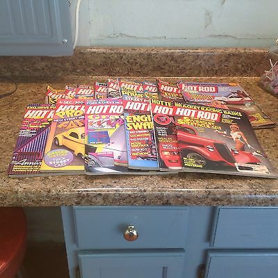 Vintage Lot Of 15 Hot Rod Magazines 1987-1988 Swimsuit Vettes Graphics Fold Out