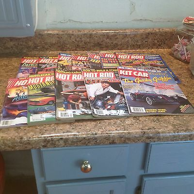 Vintage Lot Of 12 Hot Rod Magazines 1986-1985-1984 Mustangs Andy Granatelli