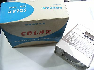 "Boxed vintage Photax Solar 2"" by 2"" slide viewer, incl transformer and box"