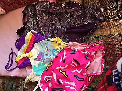 4 Girls Swimsuits 12 mo, 2T, 3T and Girls Med