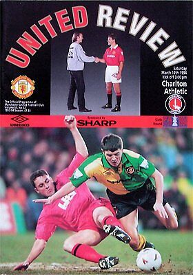 MANCHESTER UNITED v CHARLTON ATHLETIC FA Cup 6th Round 1993/94