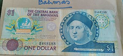 1992 BAHAMAS Columbus 500 Year Anniv Commem Dollar - BTR CIRC w edges intact