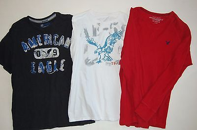 Lot of 3 Mens American Eagle T Shirts and Thermal Size XL