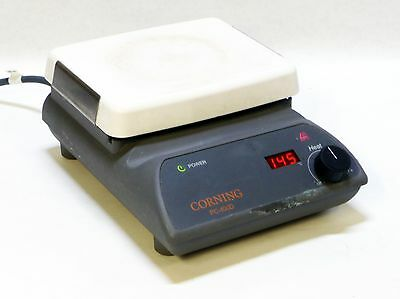 "CORNING PC-400D 5-550c 5""x7"" 120v 60Hz DIGITAL LCD BENCHTOP PYROCERAM HOT PLATE"