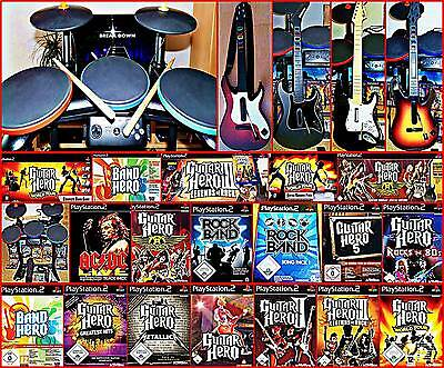 PS2 GUITAR HERO World Tour, Aerosmith, Greatest Hits, GH 1,2,3, Rock Band * Ausw