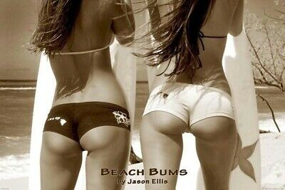 BEACH BUMS ~ BIKINI BOTTOMS 24x36 PINUP POSTER Ocean Surfing NEW/ROLLED!