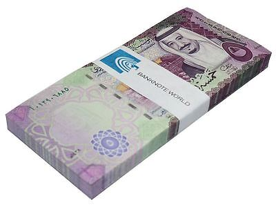 Saudi Arabia 5 Riyals X 100 Pieces (PCS), 2016, P-NEW, UNC, Bundle, Pack