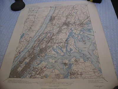 "1888-89 map of NY, NJ Harlem Quadrangle, 17"" x 21"", revised 1964           (128)"