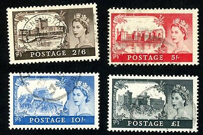 1955 Great Britain Stamps 309-312 (4) All:  Used, H WM 308