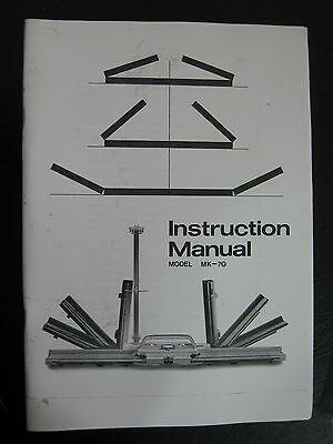 Singer Mk-70 Instruction Book Fold Up Knitting Machine  Ins03