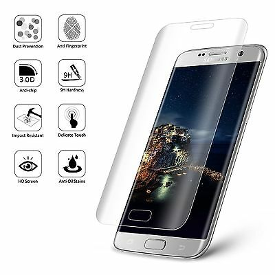 Clear Full Curved 3D Tempered Glass Screen Protector For Samsung Galaxy S7 Edge