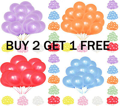 30 X Latex PLAIN BALOONS BALLONS helium BALLOONS Quality Party Birthday Wedding*