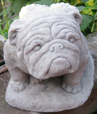 Concrete Angel Bulldog Statue